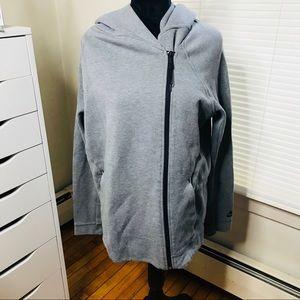 Nike Grey Zip Down Hoodie